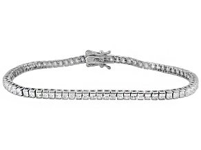 Cubic Zirconia Silver Bracelet 6.50ctw