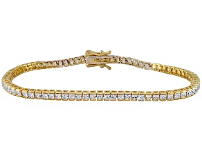 Cubic Zirconia 14k Yellow Gold Over Silver Bracelet 6.50ctw