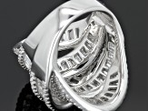 Cubic Zirconia Rhodium Over Sterling Silver Ring 8.83ctw