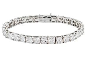 Cubic Zirconia Sterling Silver Bracelet 40.60ctw