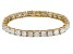 White Cubic Zirconia Sterling Silver Bracelet 40.60ctw