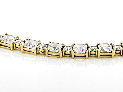 Cubic Zirconia 18k Yellow Gold Over Sterling Silver Bracelet 35.00ctw