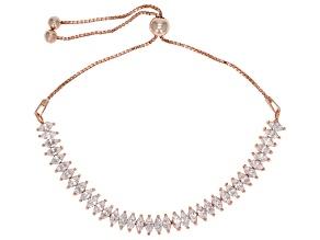 Cubic Zirconia 18k Rose Gold Over Sterling Silver Bracelet 8.88ctw