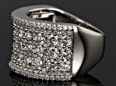 Cubic Zirconia Rhodium Over Sterling Silver Ring 7.39ctw