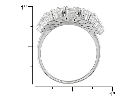 Cubic Zirconia Rhodium Over Sterling Silver Ring 10.00ctw