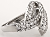 White Cubic Zirconia Rhodium Over Silver Ring 2.95ctw