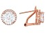 White Cubic Zirconia 18k Rose Gold Over Silver Earrings 7.40ctw
