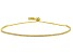 White Cubic Zirconia 18k yellow gold over silver Bracelet 2.07ctw