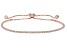 White Cubic Zirconia 18k Rose Gold Over Silver Bracelet 2.07ctw