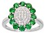 Green And White Cubic Zirconia Rhodium Over Silver Ring 1.99ctw