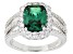 Green And White Cubic Zirconia Rhodium Over Silver Ring 4.83ctw