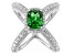 Green And White Cubic Zirconia Rhodium Over Silver Ring 5.95ctw