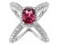Red And White Cubic Zirconia Rhodium Over Silver Ring 5.95ctw