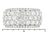 White Cubic Zirconia Rhodium Over Silver Ring 6.21ctw