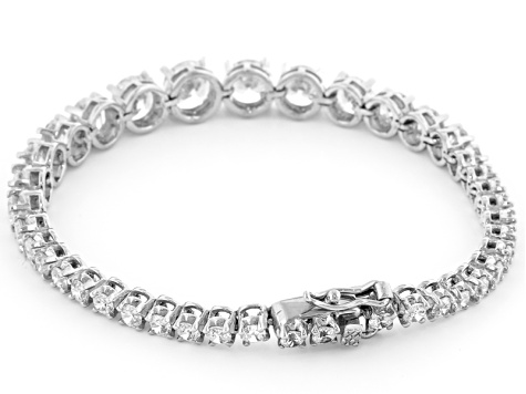 White Cubic Zirconia Rhodium Over Sterling Silver Bracelet 18.49ctw