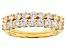 White Cubic Zirconia 18k Yellow Gold Over Sterling Silver Rings 2.00ctw