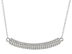 White Cubic Zirconia Rhodium Over Sterling Silver Necklace 1.35ctw