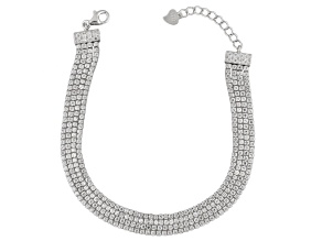 White Cubic Zirconia Rhodium Over Sterling Silver Bracelet 10.50ctw
