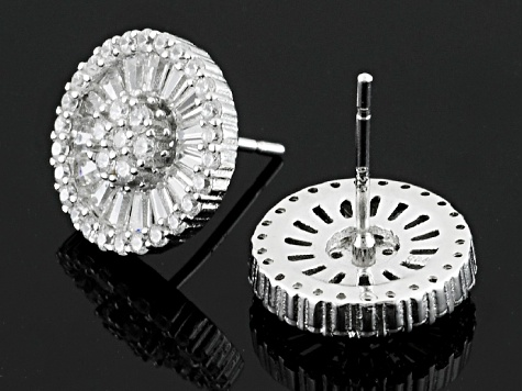 White Cubic Zirconia Rhodium Over Sterling Silver Earrings 5.00ctw