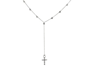 White Cubic Zirconia Rhodium Over Sterling Silver Necklace 4.25ctw
