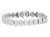 White Cubic Zirconia Rhodium Over Sterling Silver Bracelet 7.50ctw
