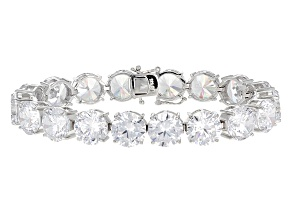 White Cubic Zirconia Rhodium Over Sterling Silver Bracelet 69.66ctw