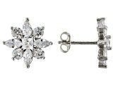 White Cubic Zirconia Rhodium Over Sterling Silver Earrings 4.15ctw