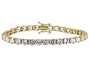 White Cubic Zirconia 18k Yellow Gold Over Sterling Silver Bracelet 24.00ctw