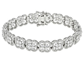 White Cubic Zirconia Rhodium Over Sterling Silver Bracelet 11.66ctw