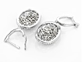 White Cubic Zirconia Rhodium Over Sterling Silver Earrings 7.50ctw