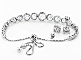 White Cubic Zirconia Rhodium Over Sterling Silver Jewelry Set 10.50ctw