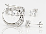 White Cubic Zirconia Rhodium Over Sterling Silver Earrings 7.60ctw