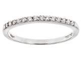 White Cubic Zirconia Rhodium Over Sterling Silver Ring With Band 4.60ctw