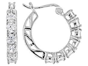 White Cubic Zirconia Sterling Silver Earrings 2.50ctw