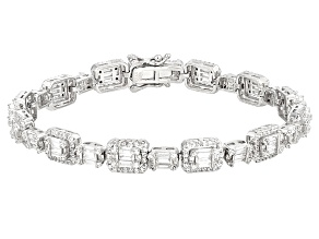 White Cubic Zirconia Rhodium Over Sterling Silver Bracelet 11.85ctw