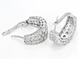 White Cubic Zirconia Rhodium Over Sterling Silver Earrings 8.15ctw