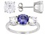 Blue And White Cubic Zirconia Rhodium Over Sterling Jewelry Set 14.80ctw