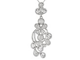 White Cubic Zirconia Rhodium Over Sterling Silver Pendant With Chain 8.30ctw
