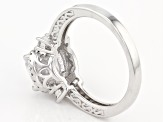 White Cubic Zirconia Rhodium Over Sterling Silver Ring 6.12ctw