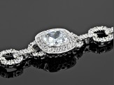White Cubic Zirconia Rhodium Over Sterling Silver Bracelet 26.22ctw