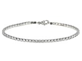 White Cubic Zirconia Rhodium Over Sterling Silver Bracelet 8.40ctw