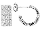 White Cubic Zirconia Rhodium Over Sterling Silver Earrings 2.64ctw