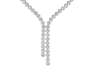 White Cubic Zirconia Rhodium Over Sterling Silver Necklace 12.00ctw