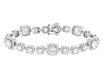 Picture of White Cubic Zirconia Rhodium Over Sterling Silver Bracelet 20.00ctw