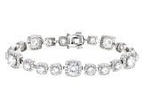 White Cubic Zirconia Rhodium Over Sterling Silver Bracelet 20.00ctw