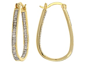 diamond 18k yellow gold over silver earrings .25ctw
