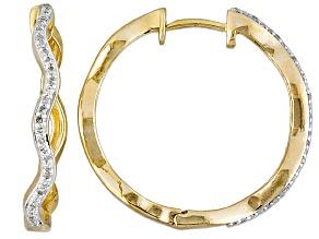 Diamond 10k Yellow Gold Earrings .24ctw