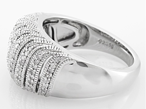Diamond Rhodium Over Sterling Silver Ring .33ctw