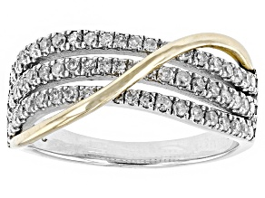 Diamond 10k White And Yellow Gold Ring .40ctw