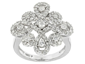 Diamond 10k White Gold Ring 1.35ctw